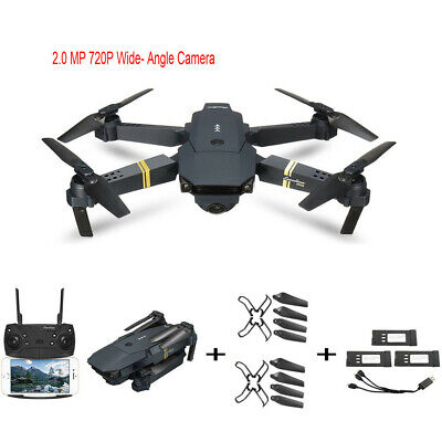 Drone Pro Foldable GPS Quadcopter WIFI FPV w/720P HD Camera 3 Extra Batteries US