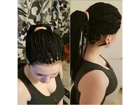 Hairdresser:Braids, cornrow, weavon, crochet