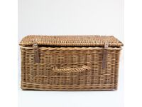 Vintage (60s/70s.) Wicker Picnic Hamper - Complete with Melaware Cups/Plates etc.