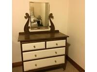 Vintage Dressing Vanity Table / Chest Of Drawers