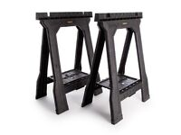 Stanley Folding Sawhorses - 2 pairs (4 units)