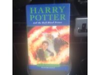 HARRY POTTER AND THE HALF BLOOD PRINCE HARDBACK WITH PROTECTIVE PAPER COVER STILL ON