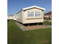 Brand new 2018 3 bedroomed caravan to let, for up to 6 people