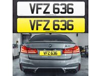 VFZ 636 - Short 3 digit NI Number Plate- Cherished Personal Private Registration plates