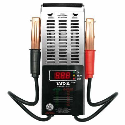 YATO Comprobador Digital de Batería 12 V Herramienta Tester de Vehículo Garaje