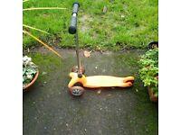 orange Micro Mini scooter for kids VGC
