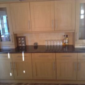 Medium oak effect kitchen units