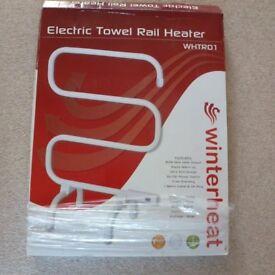 New Winterheat Free Standing White Electric Towel Rail Heater