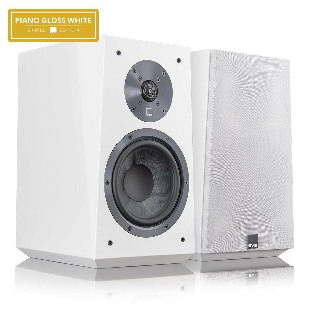 SVS ULTRA BOOKSHELF SPEAKERS PAIR PIANO WHITE LIMITED EDITION BARGAIN
