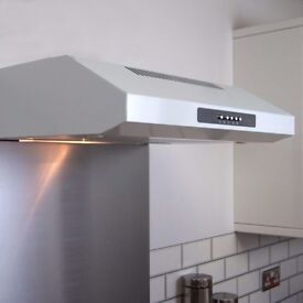 60 cm extractor fan with 3 settings and a light, rear or top vented.