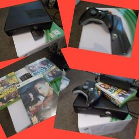 Xbox 360 console with a box 60gb hardrive