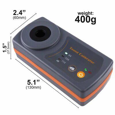 Compact Sound Level Calibrator 114db 94db 104db Calibration Level 13.2mm Cav