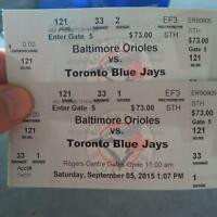 2 Jays Tickets for Sat Sept. 5th