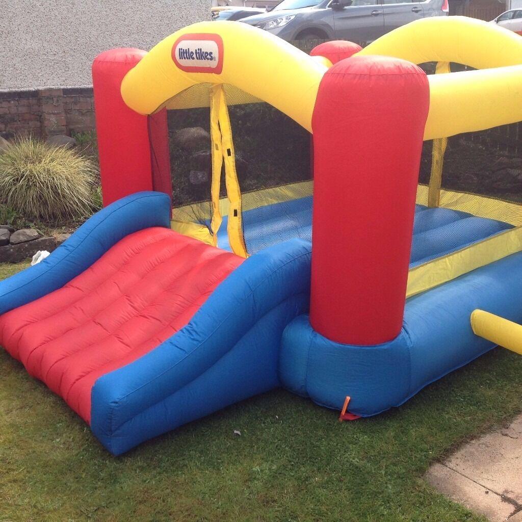 little tikes bouncy castle jump n slide bouncer. Black Bedroom Furniture Sets. Home Design Ideas