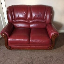 2 seater leather sofa as new condition
