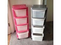 Plastic Tower Storage units (2)