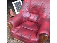 Top quality red leather chair ......free local delivery