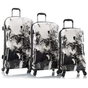 "Heys Marble Swirl 3-Piece Hardside Spinner Luggage Set - 30"", 26"" & 21"""