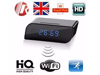 160º Wide Angle WIFI Spy Clock Night Vision Hidden Camera DVR Camcorder 720P HD