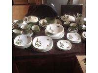 Vintage 1960 midwinter riverside dinner set