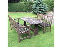 Hardwood Garden Bench, Table & Chairs Renovation Project Coulsdon near Croydon