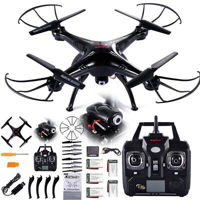 Syma X5SW-V3 Drone RC Quadcopter Wifi with HD Camera 6-Axis Gyro RTF 5 Batteries