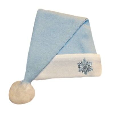 Blue Snowflake Baby Boy Santa Hat - 7 Preemie, Newborn and Toddler Sizes