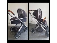 Oyster2 with Carrycot and Tungsten Grey colour pack