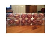 Christmas tree decorations 2 sets of 6 red Christmas tree baubles.