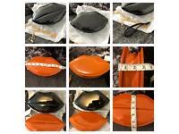 Kids girls lipstick handbag clutch apple bag black orange red left