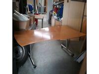 Interiors of Richmond Ltd Folding curvy desk/table In dark Beech