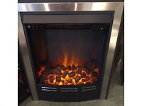 ELECTRIC FIRE BLACK AND CHROME