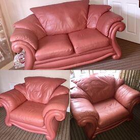 3 piece leather suite.