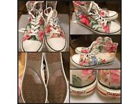 Cath Kidston converse style shoes