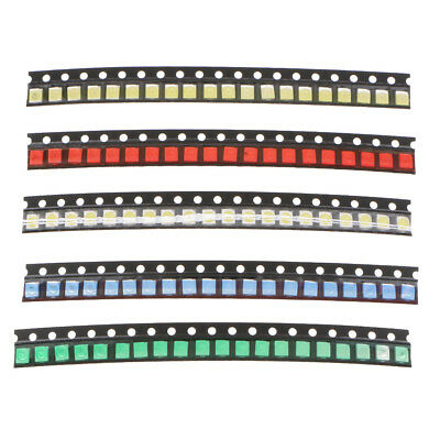 100pcs Smd Led Diode Lights Assorted Kit Lighting Bulb Lamps Emitting Diodes