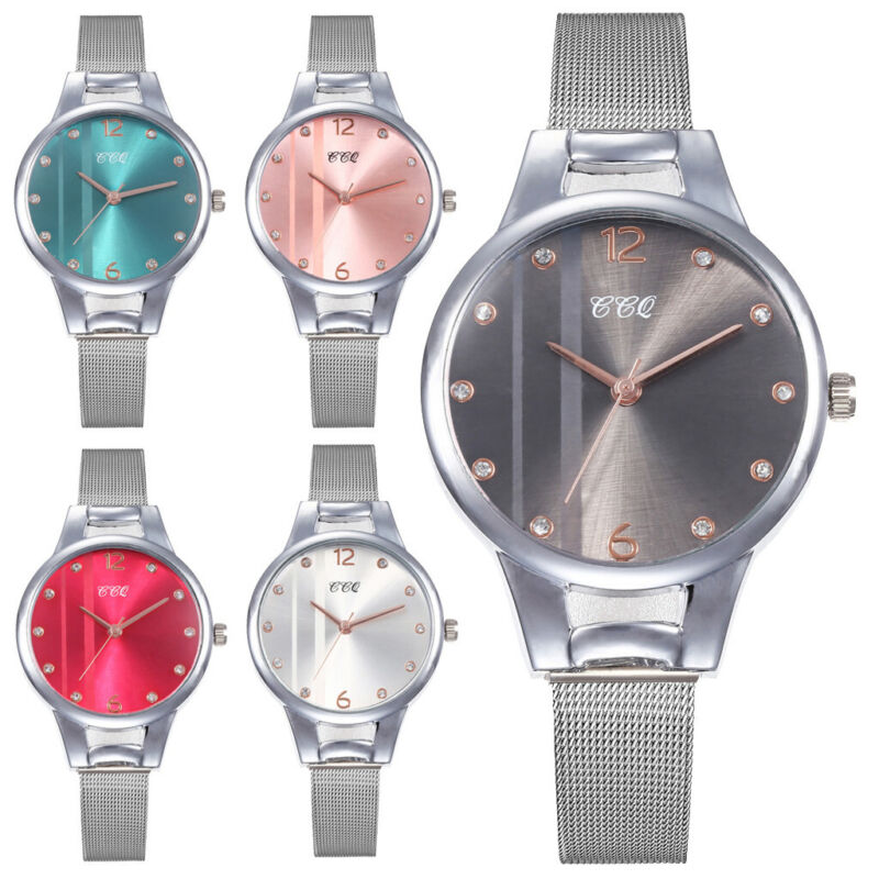 Women Casual Quartz Stainless Steel Band Marble Strap Watche