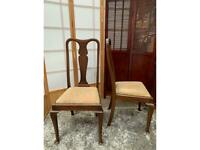 2 x Vintage Wooden Dining Chairs for Upholstery
