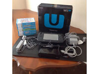 wii u 32 gb console boxed, with 17 boxed games and extras