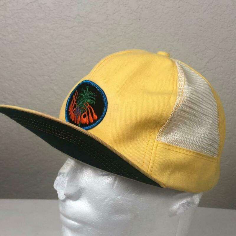 VINTAGE 60S HAWAII PATCH MESH SNAPBACK HAT SIZE M USA