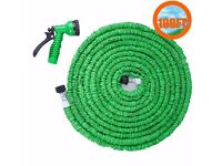 100ft expanding hose with spray nozzle