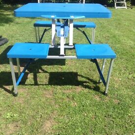 Foldable Camping table and seats