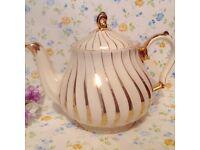Stunning gold vintage tea pot made by sadler
