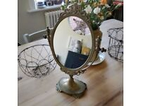 Beautiful vintage dressing table mirror. Small mirror. Makeup mirror. Vintage mirror.