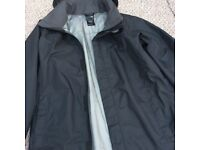 North Face Boys Waterproof Jacket Black. Size: Boys Large. Like New only worn for a short time