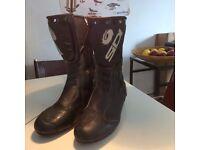 Sidi Black Rain Evo Boots. Size UK12.5 EUR 47