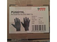 100x pairs of PU Coated gloves grey size XL - make click 2000