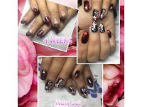 Hard gel extension and gel polish nails