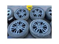 """21"""" land Range Rover alloy wheels alloys rims tyres sport vogue discovery 5x120 pcd"""