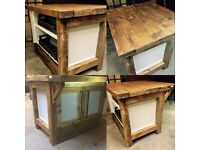 Kitchen island with breakfast bar solid wood