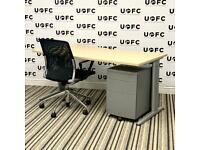 Senator Jigsaw Desk in Maple